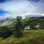 Rainbow in Banos, Ecuador