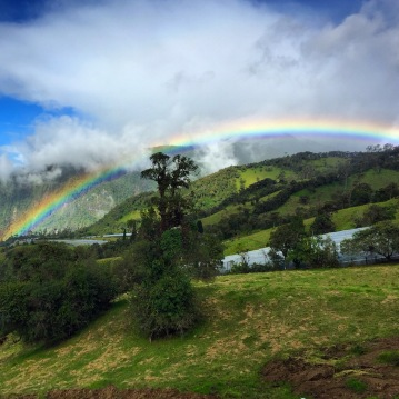 Rainbow in Banos, Ecuador