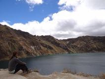 Deep thoughts, Laguna Quilotoa, Ecuador