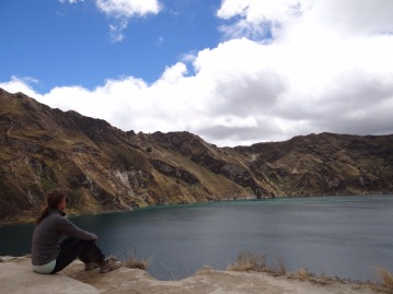 Deep thoughts, Laguna Quilotoa, Ecuador