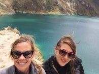 Mari and I, Laguna Quilotoa, Ecuador