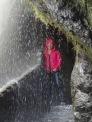 Waterfall shower, Banos, Ecuador